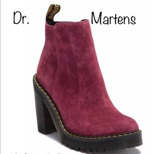Doc Martens Magdalena Wine Women's Boots Sz 10 NWB